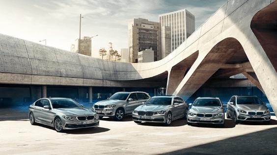 verschiedene Modelle von BMW Neuwagen