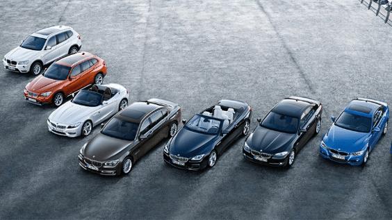 verschiedene BMW Gebrauchtwagen